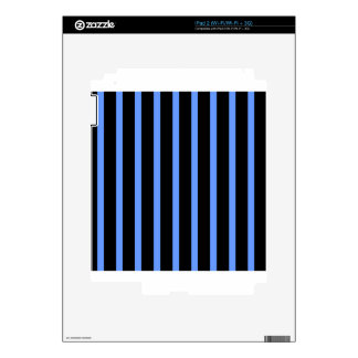 Black and Blue Stripes iPad 2 Decals
