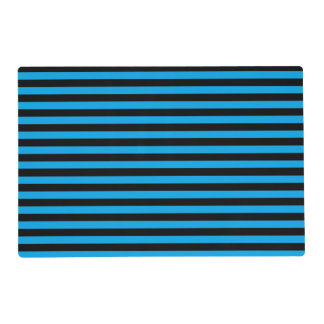 Black and Blue Stripes Laminated Placemat