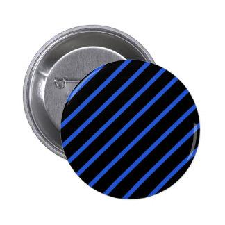 Black and blue stripes pinback button