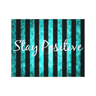 black and blue stripes quoted canvas