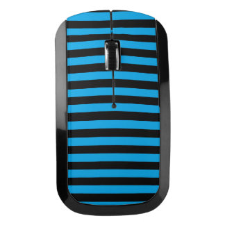 Black and Blue Stripes Wireless Mouse
