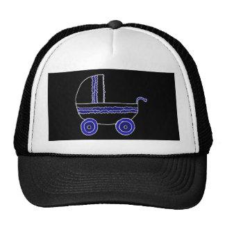 Black and Blue Stroller. Trucker Hat