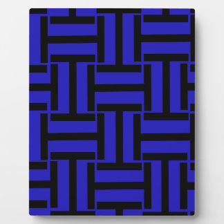 Black and Blue T Weave Plaque