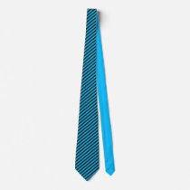 Black and Blue Thin Striped Neck Tie