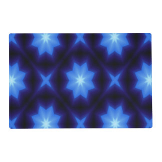 black and blue TRIANGLE STAR 8 PLACEMAT