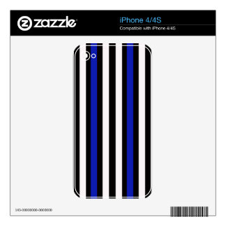 Black and Blue with White iPhone 4 Decal