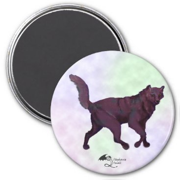 pegacorna Black and Blue Wolf in clouds Magnet