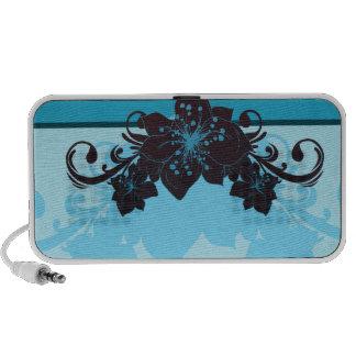 Black and Bluish floral speaker