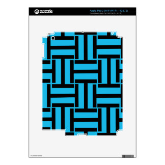 Black and Bright Blue T Weave iPad 3 Decal