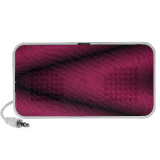 Black and Bright Cherry Wave Portable Speaker