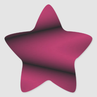 Black and Bright Cherry Wave Star Sticker