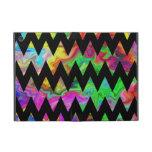 Black and Bright Multicolored Zigzags. Cover For iPad Mini