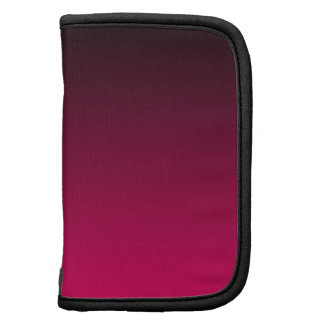Black and Bright Pink Ombre Folio Planner