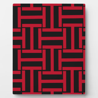Black and Bright Red T Weave Plaque