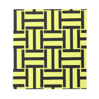 Black and Bright Yellow T Weave Notepad