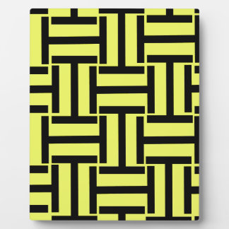Black and Bright Yellow T Weave Plaque