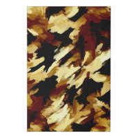 Black and Brown Abstract Painting Faux Canvas Print