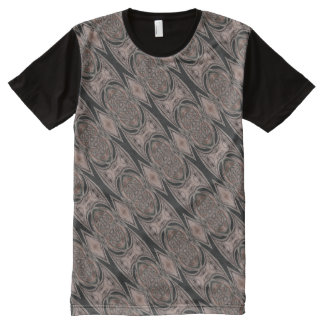 Black And Brown Abstract Pattern All-Over-Print Shirt