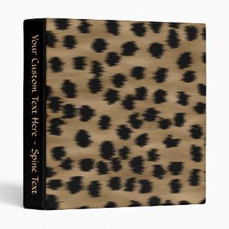 Black and Brown Cheetah Print Pattern. 3 Ring Binder