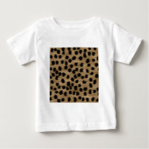 Black and Brown Cheetah Print Pattern. Baby T-Shirt
