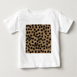 Black and Brown Cheetah Print Pattern. Baby T-Shirt