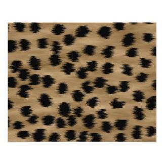 Black and Brown Cheetah Print Pattern. Flyer