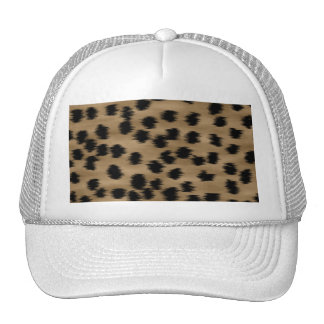 Black and Brown Cheetah Print Pattern. Mesh Hats