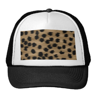 Black and Brown Cheetah Print Pattern. Hats