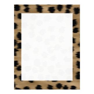 Black and Brown Cheetah Print Pattern. Letterhead