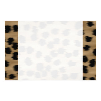 Black and Brown Cheetah Print Pattern. Stationery