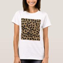 Black and Brown Cheetah Print Pattern. T-Shirt
