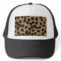 Black and Brown Cheetah Print Pattern. Trucker Hat