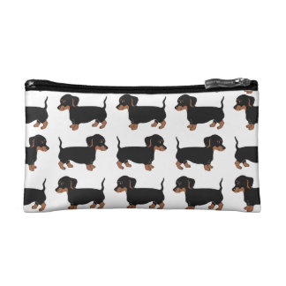 Black and Brown Dachshunds Pattern Accessory Bag