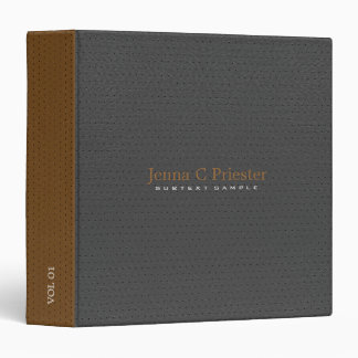 Black And Brown Faux Leather Look 3 Ring Binder