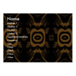 Black and Brown Floral Pattern Design. Large Business Cards (Pack Of 100)