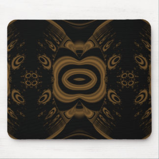 Black and Brown Floral Pattern Design. Mouse Pads