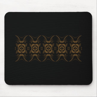Black and Brown Floral Pattern Design. Mouse Pad