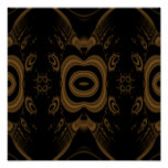 Black and Brown Floral Pattern Design. Print