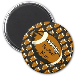 Black and Brown Football Mom Sports Magnet