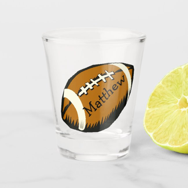 Black and Brown Football Sports Shot Glass