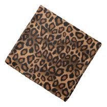 Black and Brown Leopard Animal Print Bandana