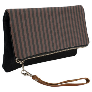 Black and Brown Stripe Clutch