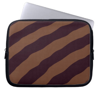 Black and Brown Striped Laptop Sleeve