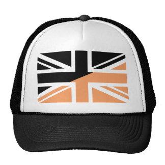 Black and brown Union Jack British(UK) Flag Trucker Hat
