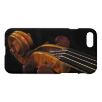 Black and Brown Violin Scroll Music iPhone 7 Case