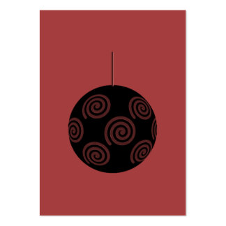 Black and Burgundy Red Christmas Bauble. Business Card Template