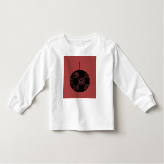Black and Burgundy Red Christmas Bauble. Tshirts