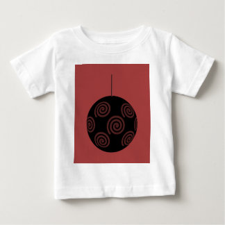 Black and Burgundy Red Christmas Bauble. Shirt