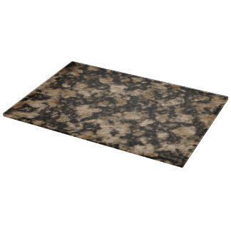 Black and Caramel Faux Granite Stone Texture Cutting Board