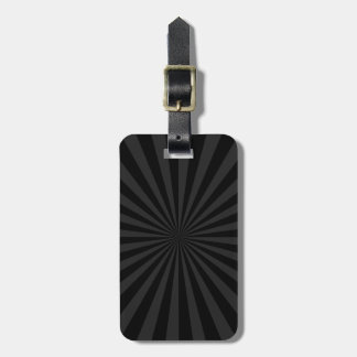 Black and Charcoal Sun Burst Decor Bag Tag